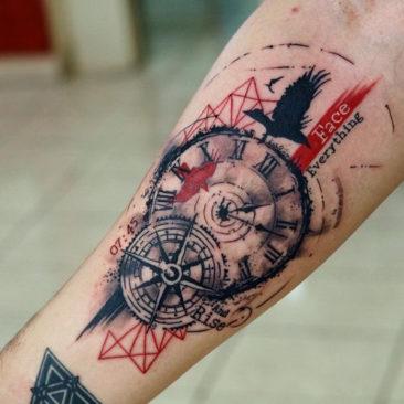 Znaczenie tatuażu zegar